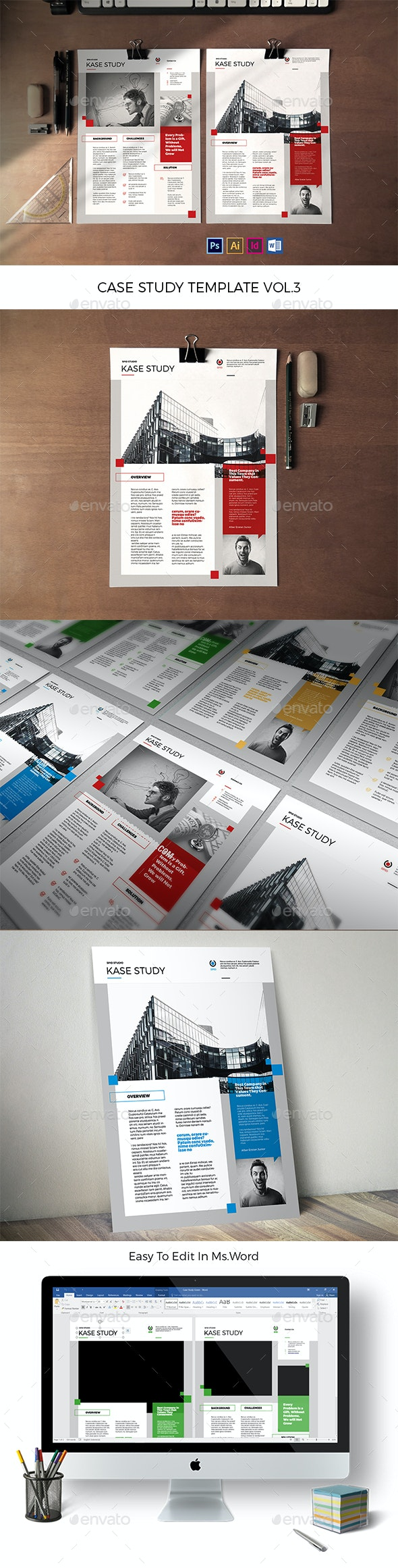 CaseStudy Template Vol.3 - Informational Brochures