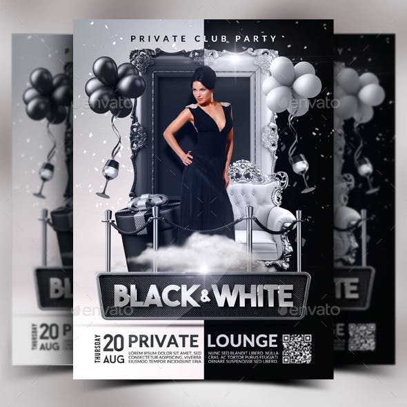 Black & White Flyer Template