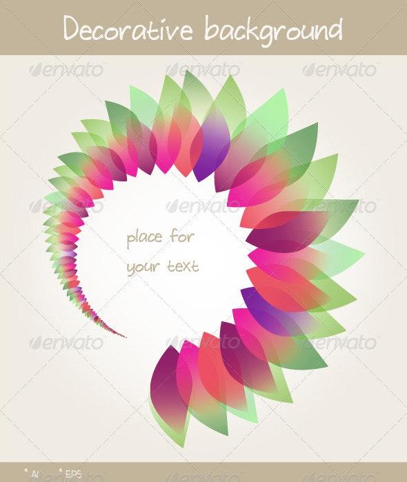 Floral Decorative Background - Decorative Vectors