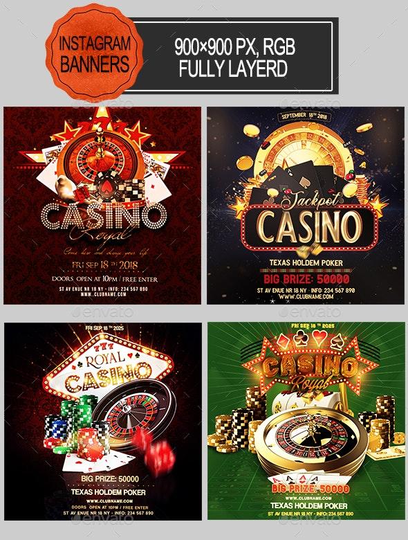 Casino Night Instagram Banners - Social Media Web Elements