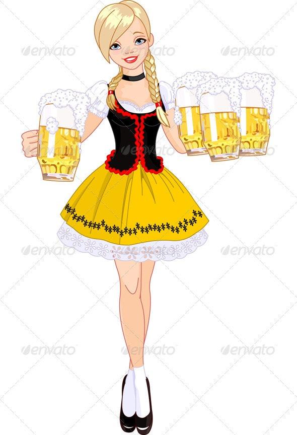Oktoberfest girl - Miscellaneous Seasons/Holidays