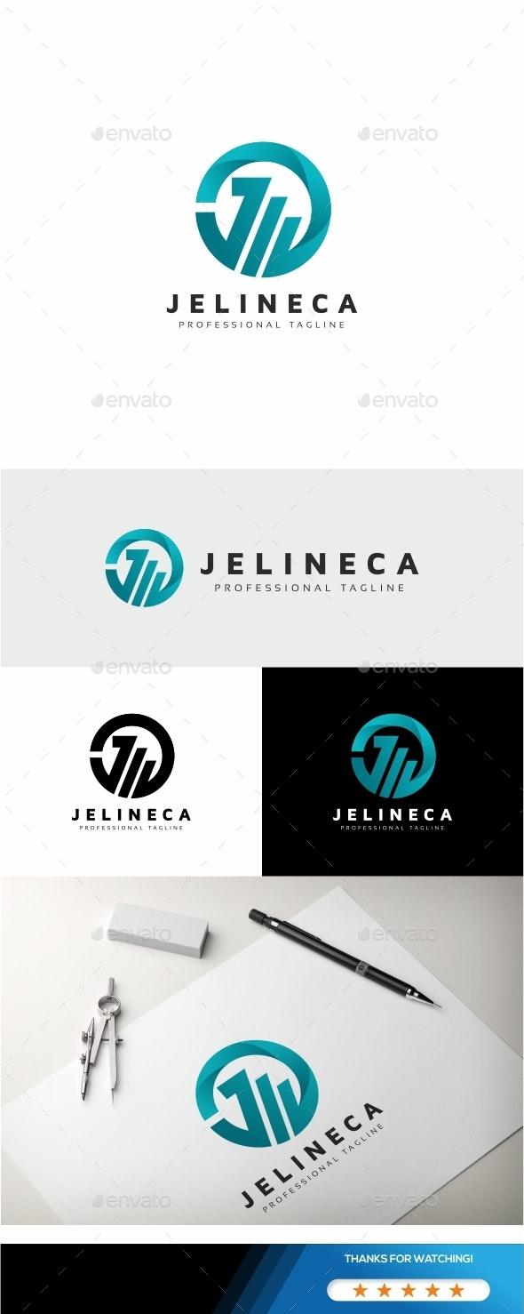 Circle J Letter Logo - Letters Logo Templates