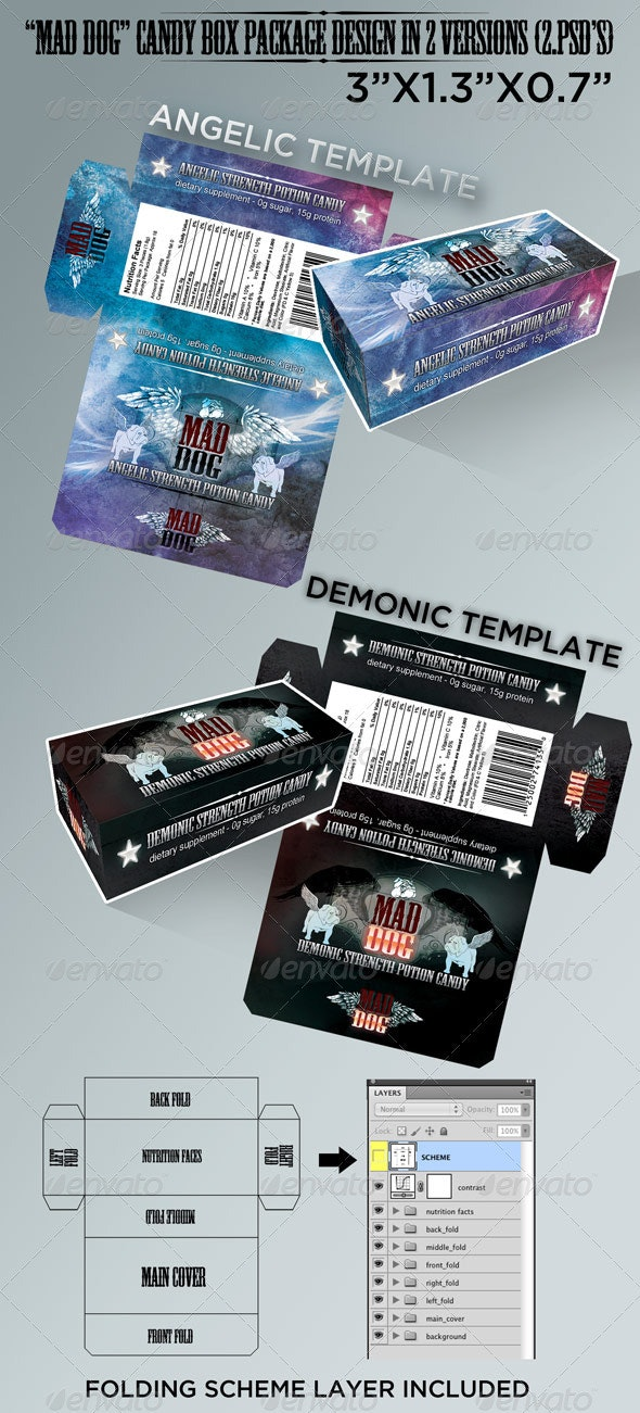 Candy Box - Packaging Print Templates