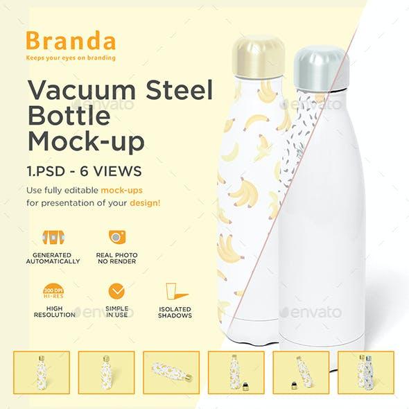 Vacuum Steel Bottle Mock-up