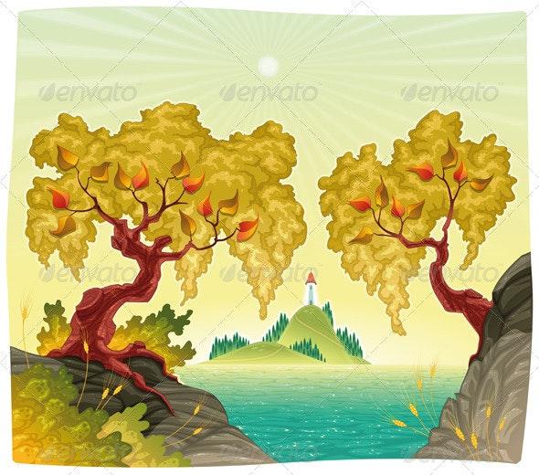 Romanitc landscape on the sea. - Landscapes Nature