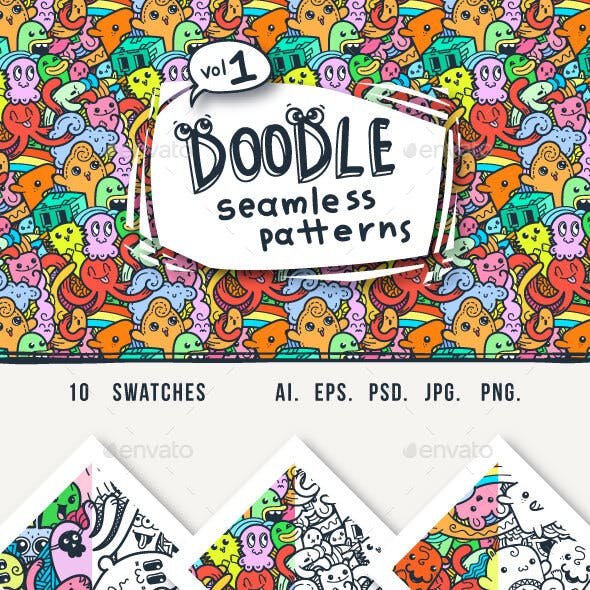 Quirky Doodle Patterns and Colorings