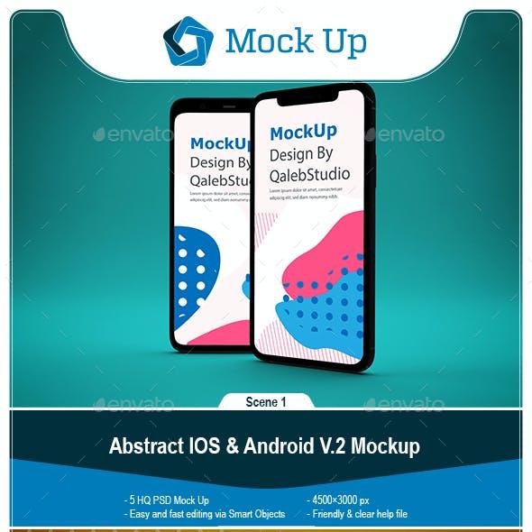 Abstract IOS & Android Mockup V.2