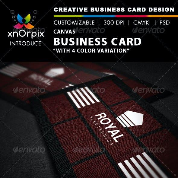 Canvas Business Card