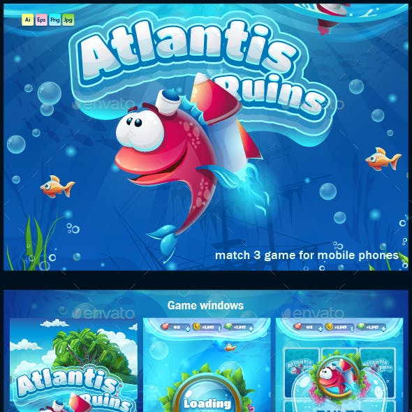 Atlantis Ruins for Mobile Phones