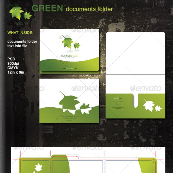 Green Documents Folder