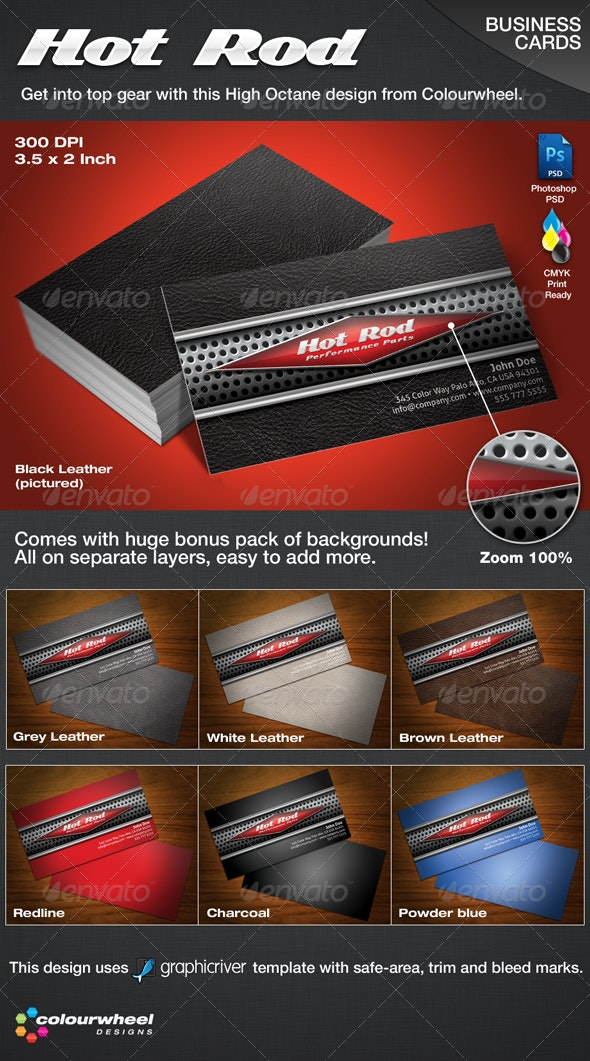 Hot Rod Business Cards - Creative Business Cards