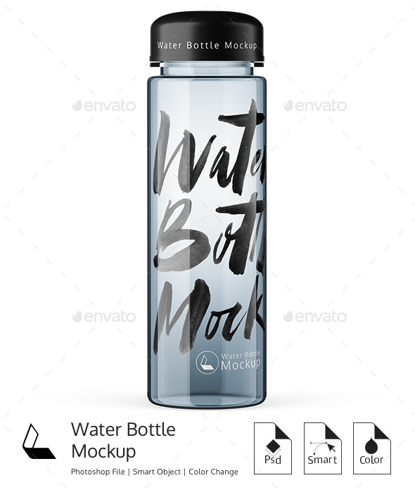 Water Bottle Mockup - Product Mock-Ups Graphics