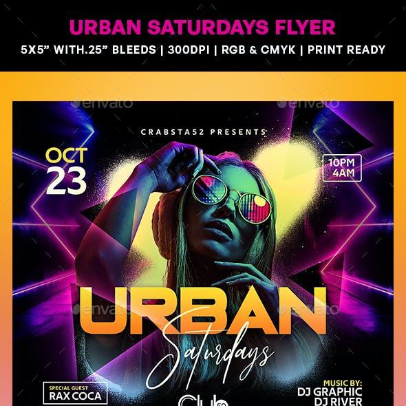 Urban Saturdays Flyer
