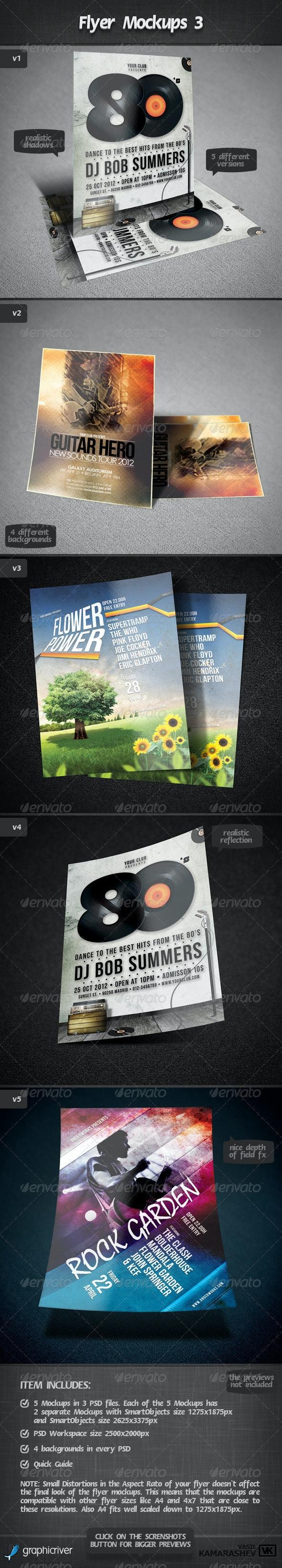 Flyer Mockups 3 - Flyers Print