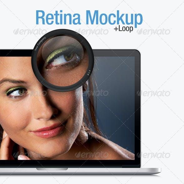 Retina Laptop Mock up