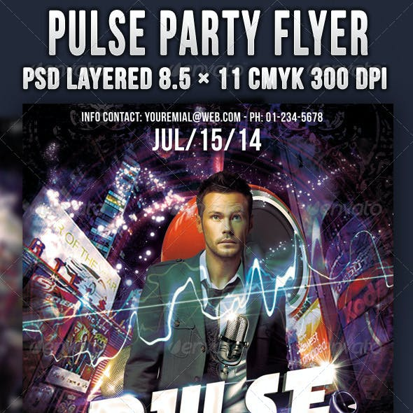 Pulse Party Flyer