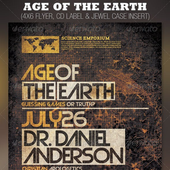 Age of the Earth Church Flyer and CD Template