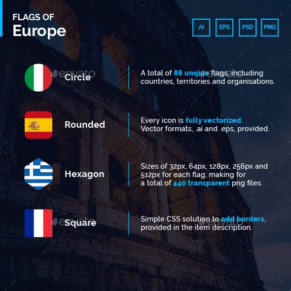Flags of Europe - Flag Icons