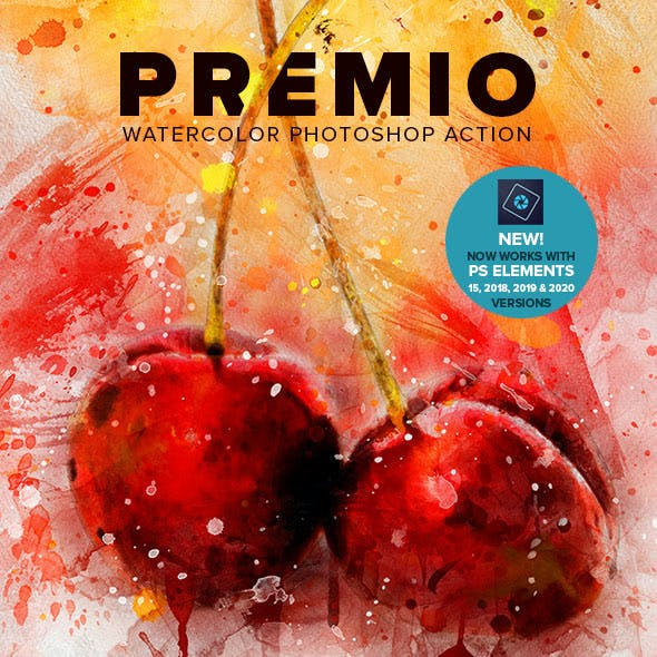 Premio Watercolor Photoshop Action