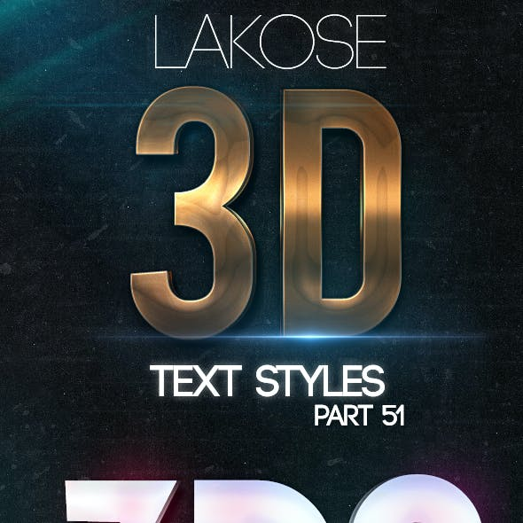 Lakose 3D Text Styles Part 51