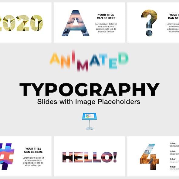 Typography - Animated Slides for Keynote Presentation