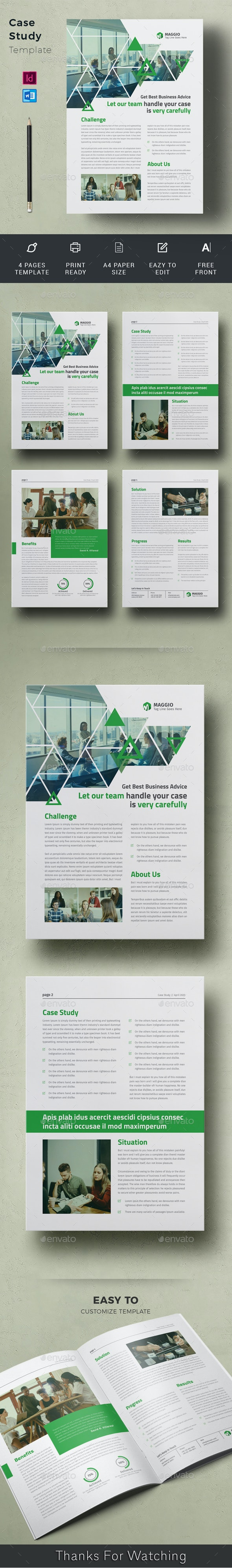 Case Study - Newsletters Print Templates