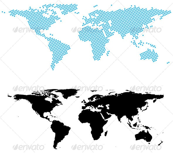 Dotted world map - Travel Conceptual