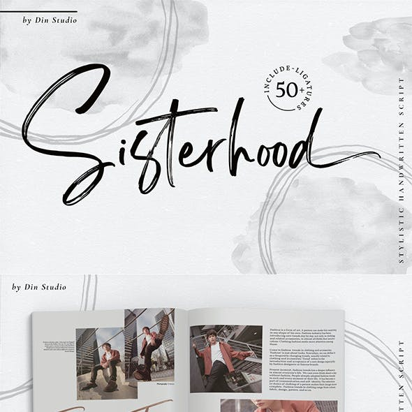 Sisterhood - Brush Font