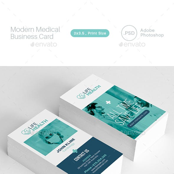 Modern Medical Business Card