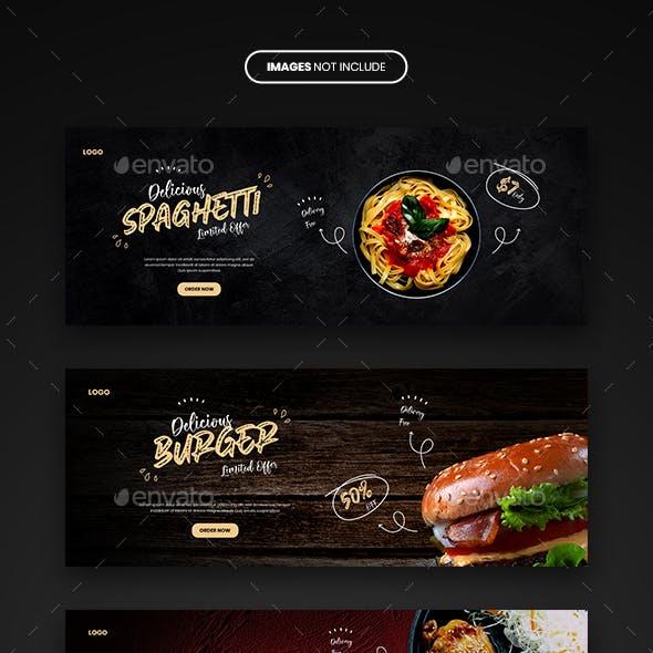 Food Menu and Restaurant Facebook Banner