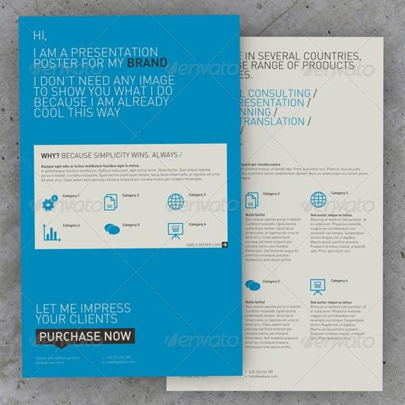 Get Minimal - Presentation Poster Z-Fold