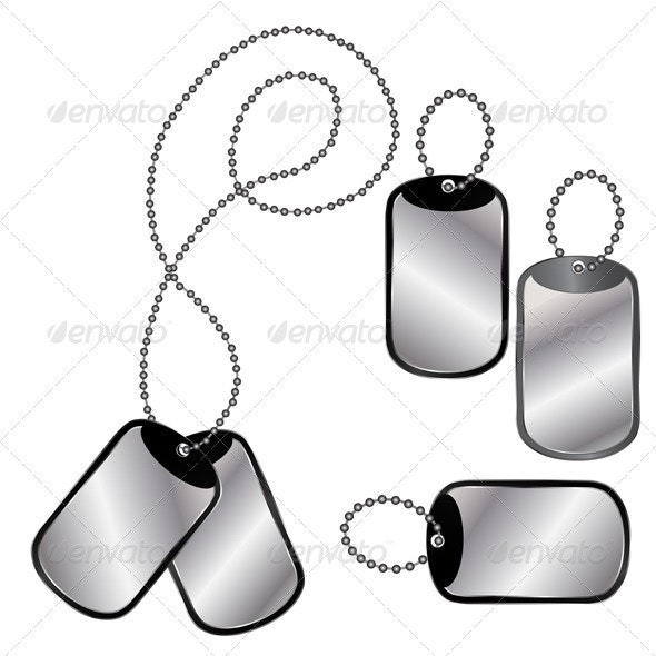 Different dog tags - Man-made Objects Objects