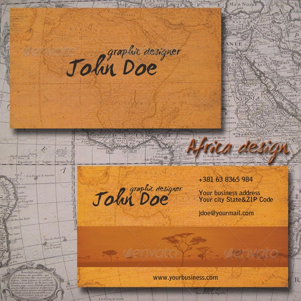 Africa Business Card - Creative Business Cards