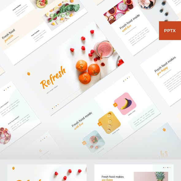 Refresh - Food PowerPoint Template