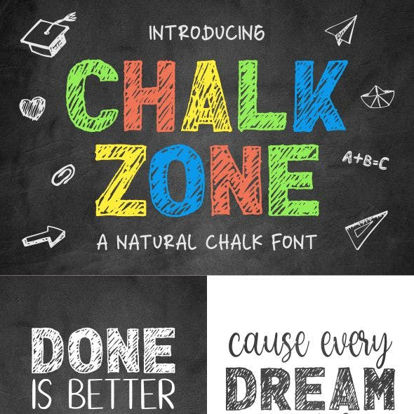 Chalk Zone- A Natural Chalk Font