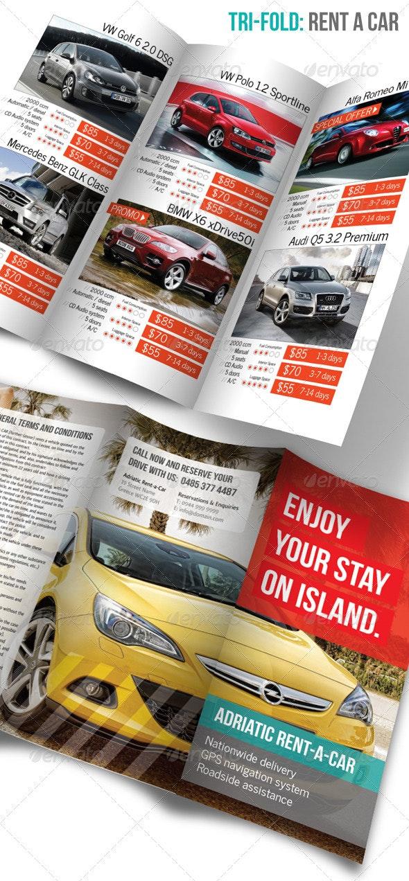 Tri-fold: Rent a Car - Catalogs Brochures