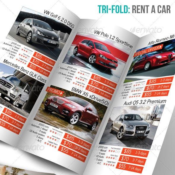 Tri-fold: Rent a Car