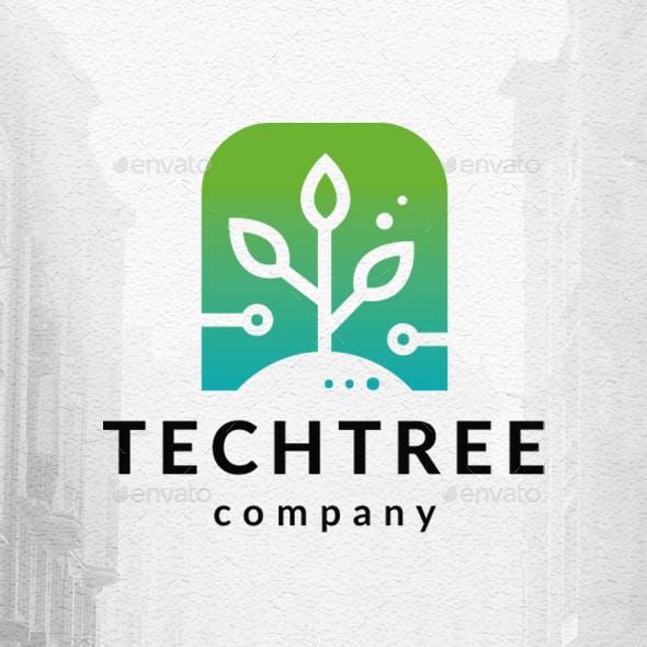 Plant Tech Logo Template