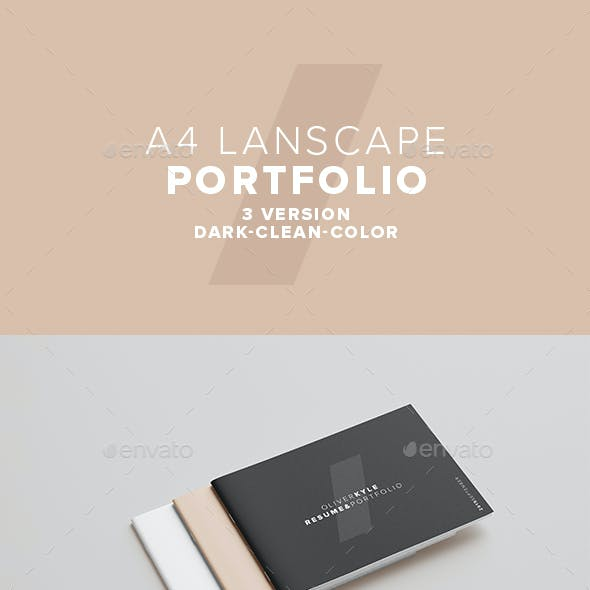 A4 Landscape Set of Portfolio