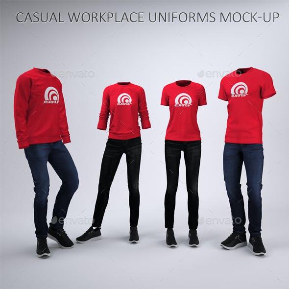 Casual Workplace Uniform Mock-Up