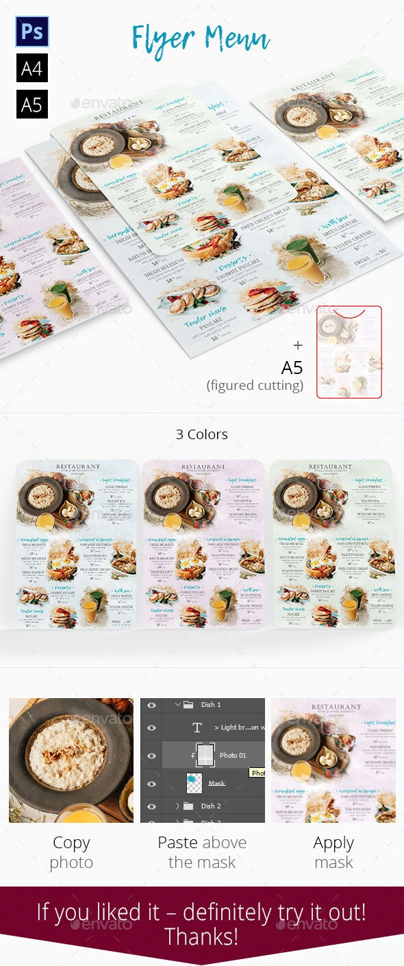 Restaurant Menu Flyer - Food Menus Print Templates