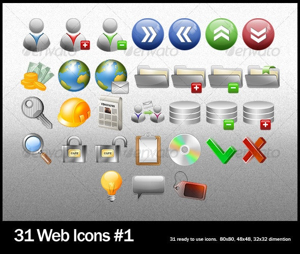 31 Clean Icons - Web Icons