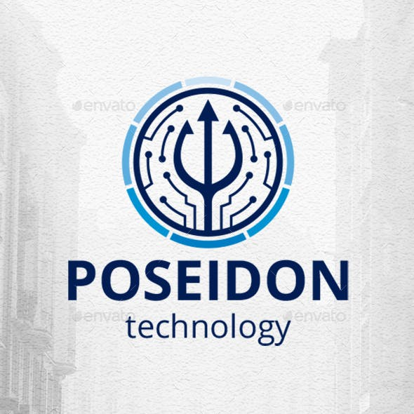 Poseidon Technology Logo Template