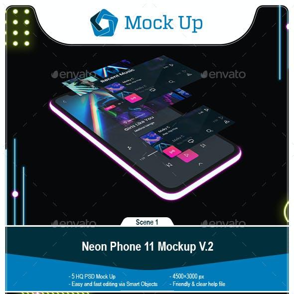 Neon Phone 11 Mockup V.2