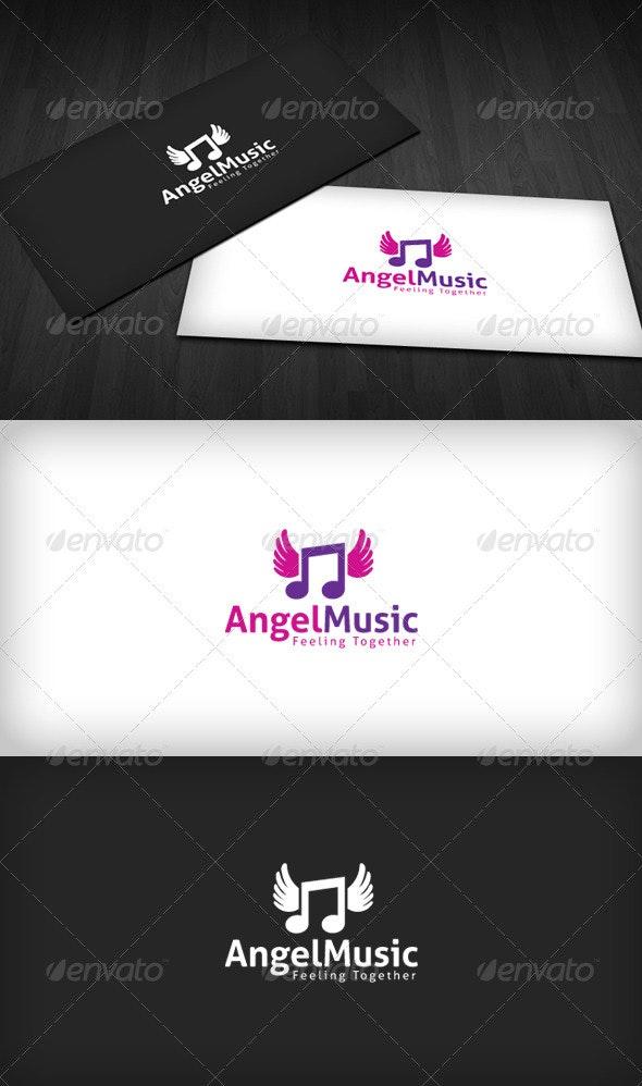 Angel Music Logo - Symbols Logo Templates
