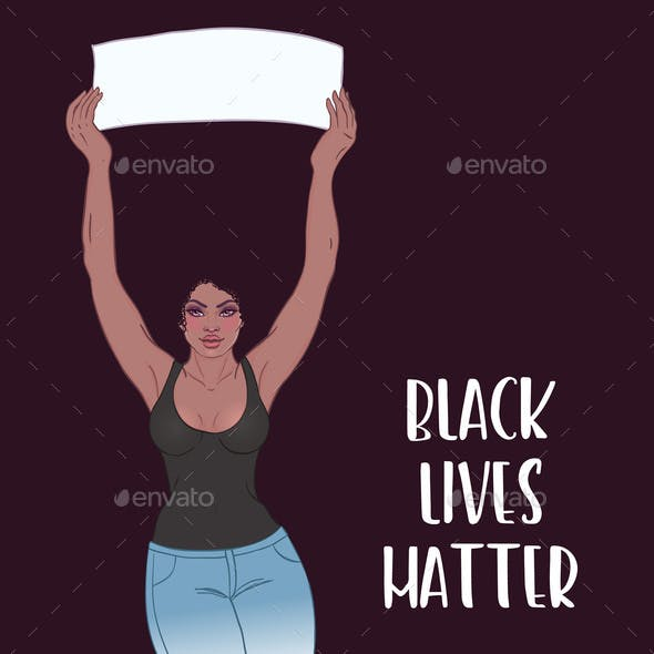 Black Lives Matter. Realistic Style Vector