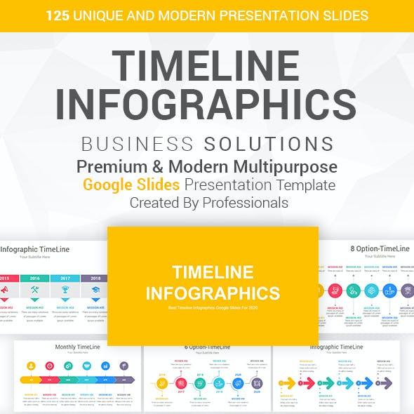 Timeline Infographics-Diagrams Google Slides Template