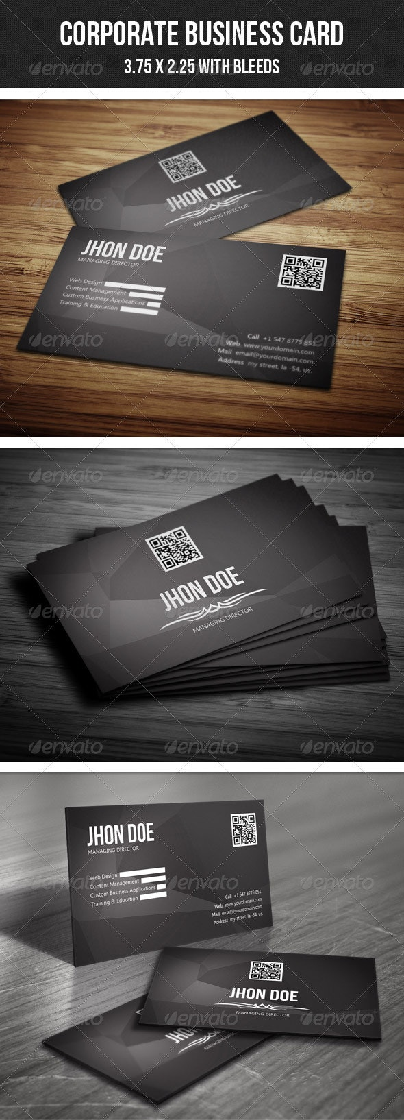 Minimal Corporate Business Card - Corporate Business Cards
