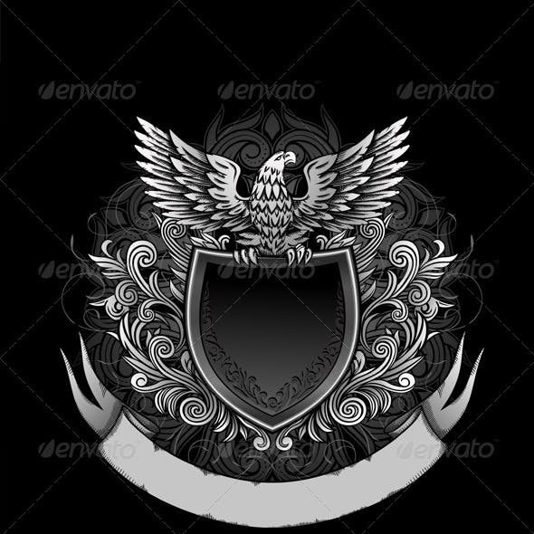 Eagle on Dark Shield Insignia