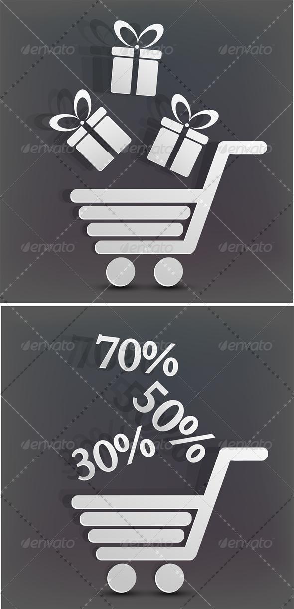 Vector holiday shopping background - Christmas Seasons/Holidays